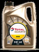 Garrafa de 5 litros Total Quartz 9000 5w40 Normativa PSA
