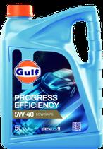 Garrafa de 5 litros Gulf progress efficiency 5w40 (1 caja de 3 garrafas de 5 litros)