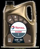 Garrafa de aceite total classic 9 C2 5w30 5 litros