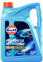 Garrafa de 5 litros Gulf progress efficiency 5w40