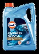 GULF PROGRESS ADVANCE 0W-30 (1 caja de 3 garrafas de 5 litros)