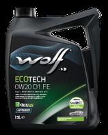 ACEITE WOLF ECOTECH 0W20 D1 FE (Garrafa de 5 litros)