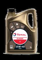 Garrafa de aceite Total Classic 5 15W40 de 5 litros