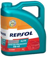 Lubricante Repsol ELITE COSMOS HIGH PERFORMANCE 5W-40 lata de 4 litros