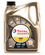 Garrafa de aceite Quartz 9000 energy 0w40 5 litros (1 caja de 3 garrafas de 5 litros)