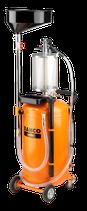 Bahco BOD8903A Purgador de aceite 2 en 1 con depósito de 90L y cámara de inspección