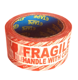Moving Printed Fragile Tape