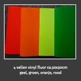 Set 4 vellen vinyl fluor 30x30cm