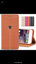 Etui en cuir avec support à cartes et fermeture magnétitque iphone 6/6S/7