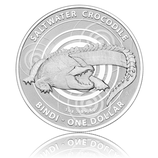 Bindi Saltwater Crocodile 1 Oz Silber - Australien 2013 - mit Blister