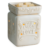LIVE WELL Duftlampe elektrisch creme Keramik