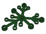 5x Boomblad 6x5 donker groen