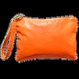 """Pochette """"Sofia"""" colore arancione."""