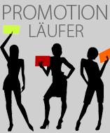 PromoPaket 2: Promotionläufer mit Plakat für ihre Handzettelverteilung