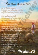 Poster Psalm 23