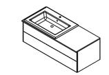 Lanzet  K5 - Keramik Waschtisch-Set 120cm - 2 Auszüge - Becken links