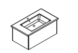 Lanzet K5 - Keramik Waschtisch-Set 90cm - 1 Auszug