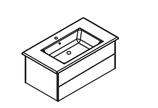 Lanzet  K5 - Keramik Waschtisch-Set 90cm - 2 Auszüge