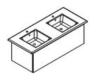 Lanzet K5 - Keramik Doppelwaschtisch-Set 120cm - 1 Auszug