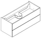 Lanzet M9 - Waschtischunterschrank 120 cm