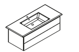 Lanzet  K5 - Keramik Waschtisch-Set 120cm - 2 Auszüge