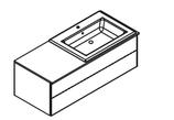 Lanzet  K5 - Keramik Waschtisch-Set 120cm - 2 Auszüge - Becken rechts