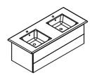 Lanzet K5 - Keramik Doppelwaschtisch-Set 120cm -  2 Auszüge