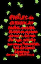 ETOILES DE CHOCOLAT 100 G