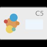 Couvert DIN C5, gedruckt 4/0 = einseitig farbig Nassverschluss, MIT FENSTER RECHTS