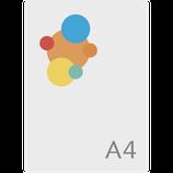 Brief A4, Papier 90gr./m2, Druck 4/0 = EINSEITIG FARBIG, GEFALZT auf A5