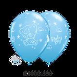 Rundballon Teddy Baby Girl blau