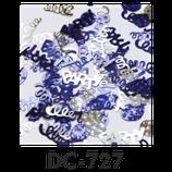 Deco-Konfetti PARTY Schriftzug blau / silber