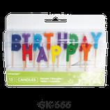 Kerzen Happy Birthday bunt