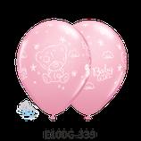 Rundballon Teddy Baby Girl Pink