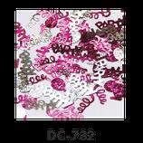 Deco-Konfetti PARTY Schriftzug pink / silber