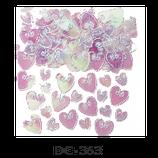 Deco-Konfetti grosse und kleine Herzen rosa irrisierend