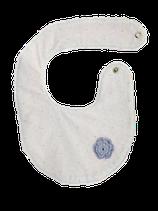 Bavoir bi-face gris