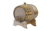 2 Liter Barrel, brass hoop.