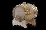 3 Liter Barrel, brass hoop.