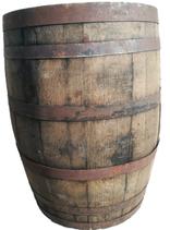 Barril americano para 200 litros, reposo o decoración.