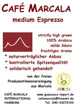 Café Marcala: medium Espresso - fruchtbetont