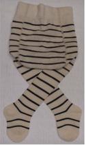 Babystrumpfhosen weiss-kirschrot 74080