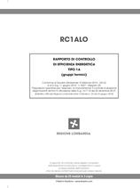 Rapporto di efficienza energetica gruppi termici (Lombardia)