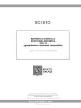 Rapporto di efficienza energetica gruppi termici biomassa (Toscana)