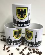 Tasse weiß Skyline Dortmund