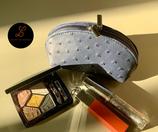 Make-up tasje in struisvogelleder - 15 x 9 cm