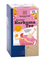 Blumiger Kurkuma Tee