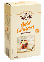 Gold Leinsaat geschrotet, 200 g
