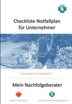 Checkliste Notfallplan für KMU-Unternehmer