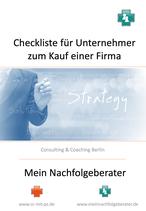 Checkliste Firmenkauf für KMU-Unternehmer
